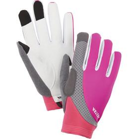 Hestra Apex Reflective Long Finger Gloves fuchsia